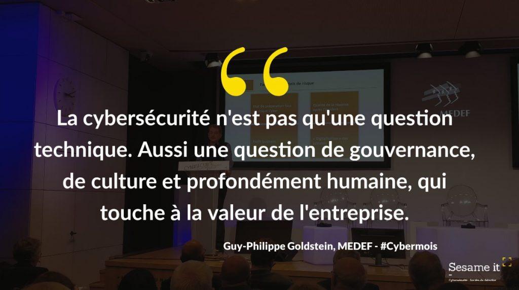Guy Philippe Goldstein événement cybersécurité MEDEF